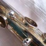 Avant restauration d'une flûte traversière